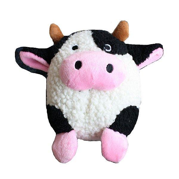 Brinquedos Para Cachorro Pelúcia PatchWork Pet Vaca
