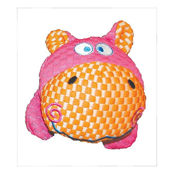 Brinquedos Para Cachorro Pelúcia PatchWork Pet Cabeça de Hippo