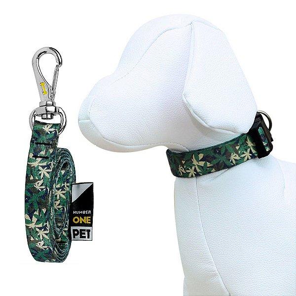 Coleira e Guia Para Cachorro Number One Camouflage