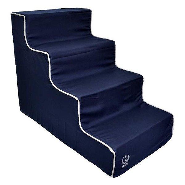 Escada Para Cachorro e Gatos São Pet 4 Degraus Azul