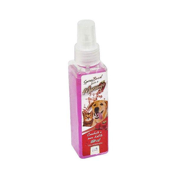 Spray Bucal Para Cachorro Pet Clean Para Mau Hálito Morango