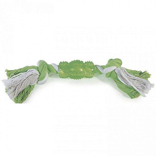 Brinquedo Para Cachorro Corda Rubber Bone Verde