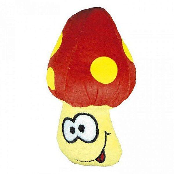 Brinquedo Para Cachorro Mordedor Pelúcia Food Cogumelo Vermelho