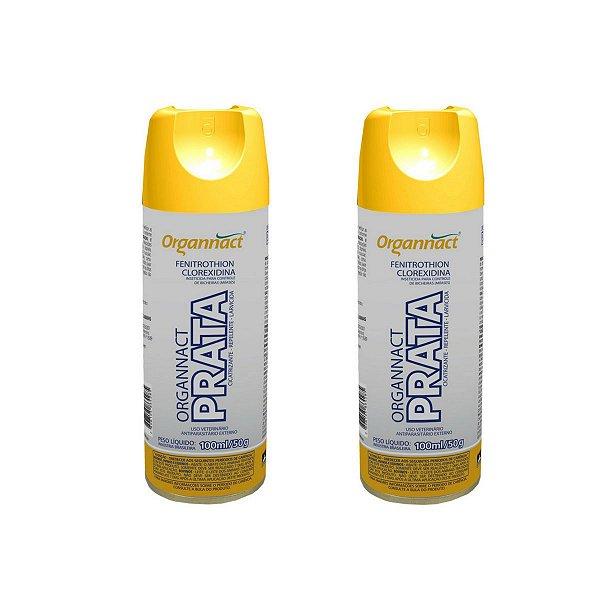 Organnact Prata Spray Antibacteriano 200ml Kit 2