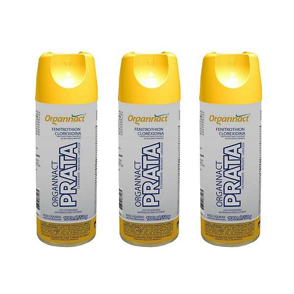 Organnact Prata Spray Antibacteriano 200ml Kit 3