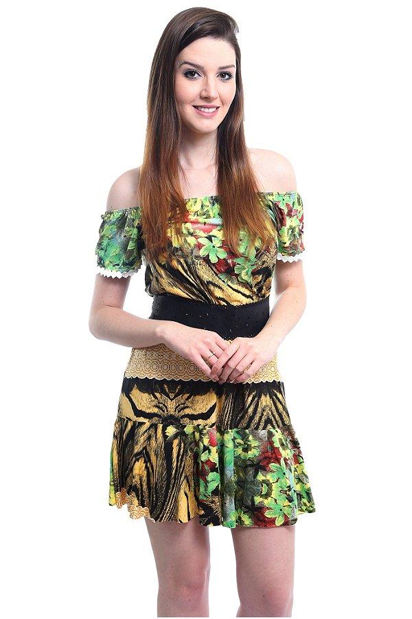 Vestido Ciganinha Amazônica