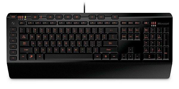 Teclado Microsoft SideWinder X4 Keyboard Iluminado