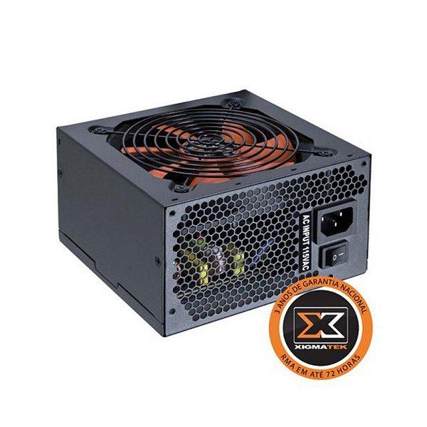 Fonte Xigmatek CALIBRE 80 Plus White 400w (110v/230v Switch) (sem PFC ativo) - EN6695 XCP-A400