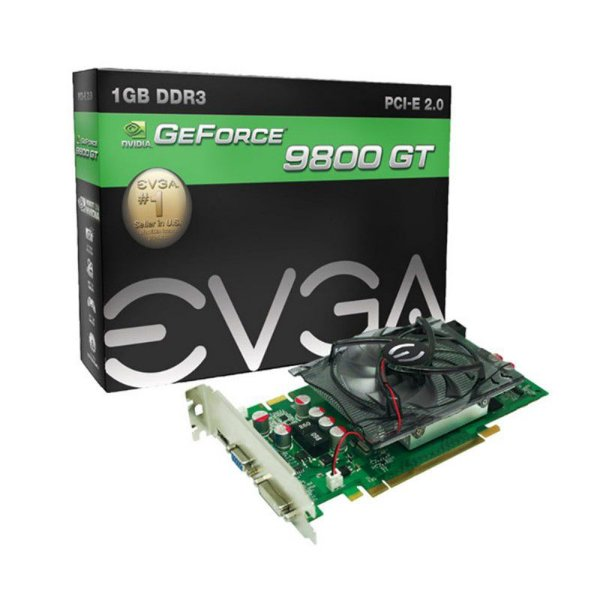 Placa de Vídeo GeForce EVGA 9800 GT 1GB DDR3 256 bits 1800 MHz HDMI Nvidia 01G-P3-N988-TR