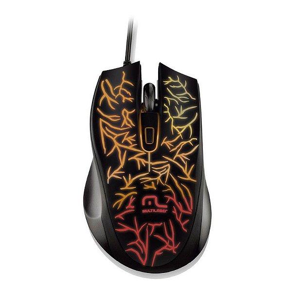 Mouse Gamer Fusion Multilaser MO227 Iluminado (7 cores)