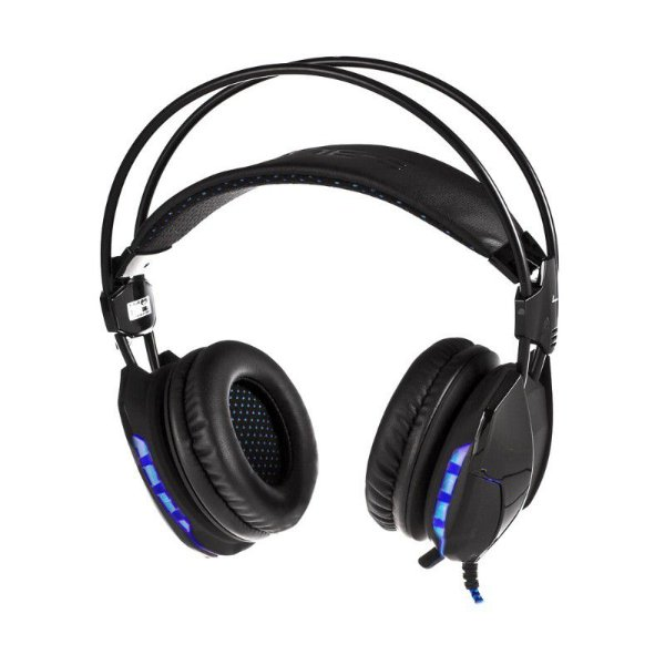Headset Gamer Iluminado Cobra II Preto - E-BLUE