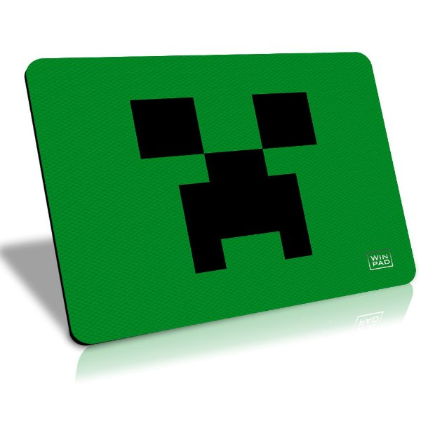 MousePad Winpad Minecraft Creeper Liso Control Médio (36cm x 28cm x 0,3cm)