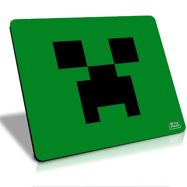 MousePad Winpad Minecraft Creeper Liso Control Grande (45cm x 40cm x 0,3cm)