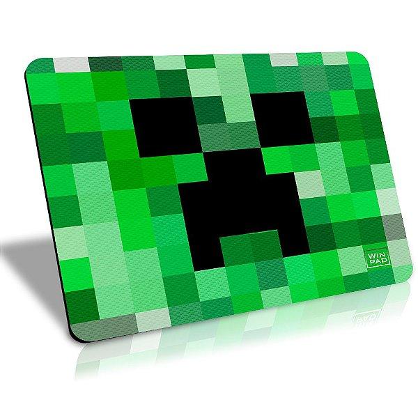 MousePad Winpad Minecraft Creeper Pixel Control Médio (36cm x 28cm x 0,3cm)