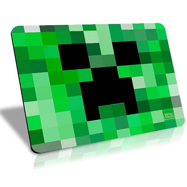 MousePad Winpad Minecraft Creeper Pixel Speed Médio (36cm x 28cm x 0,3cm)