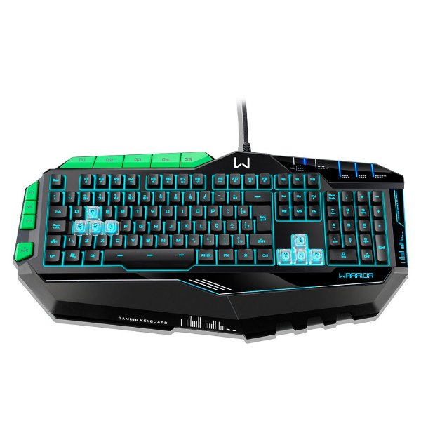 Teclado Multilaser Gamer Warrior c/LED 7 Cores e 8 Macros - Tc199
