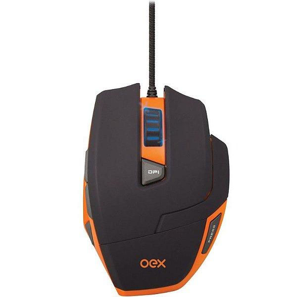 Mouse Gamer USB OEX Hunter MS 303 9 botões + Ajuste de peso - 3200 DPI
