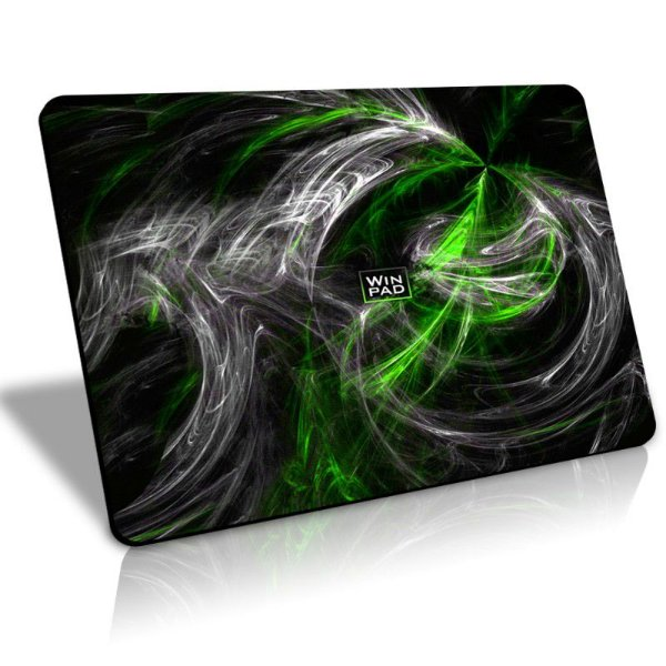 Mousepad Gamer WinPad AURA Green Médio Speed  (36cm x 28cm x 0,3cm)
