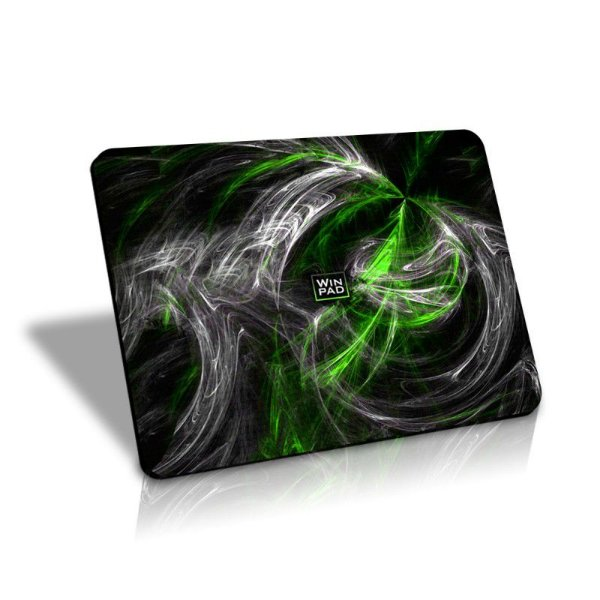 Mousepad Gamer WinPad AURA Green Pequeno Speed  (30cm x 21cm x 0,3cm)