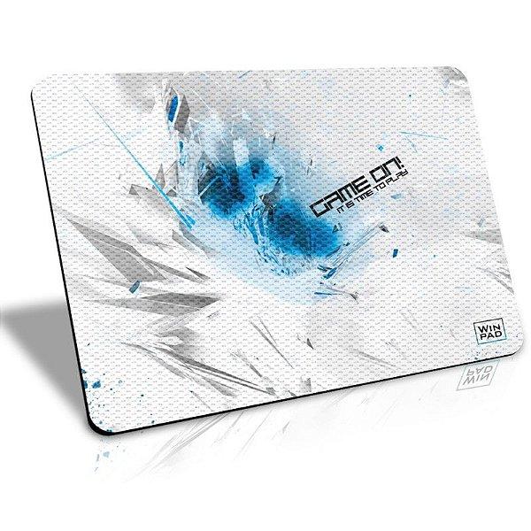 Mousepad Gamer WinPad GameON! Reverse Blue Médio Control (36cm x 28cm x 0,3cm)
