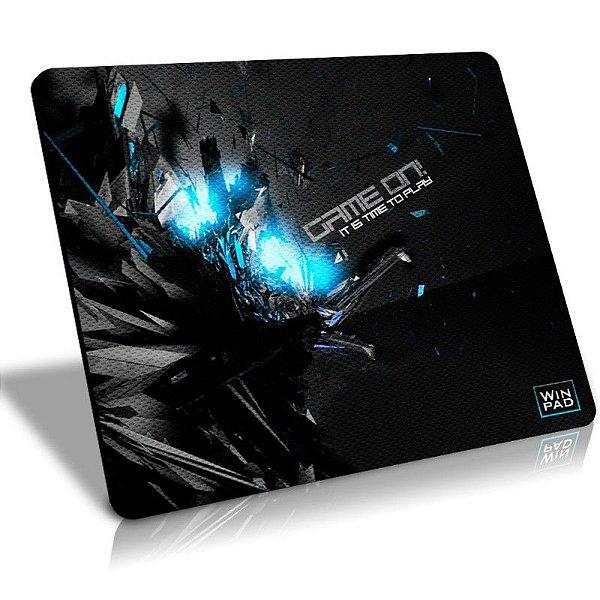 Mousepad Gamer Winpad GameON! Blue Grande Control  (45cm x 40cm x 0,3cm)