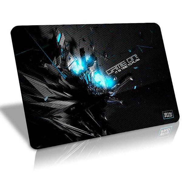 Mousepad Gamer WinPad GameON! Blue Médio Control  (36cm x 28cm x 0,3cm)