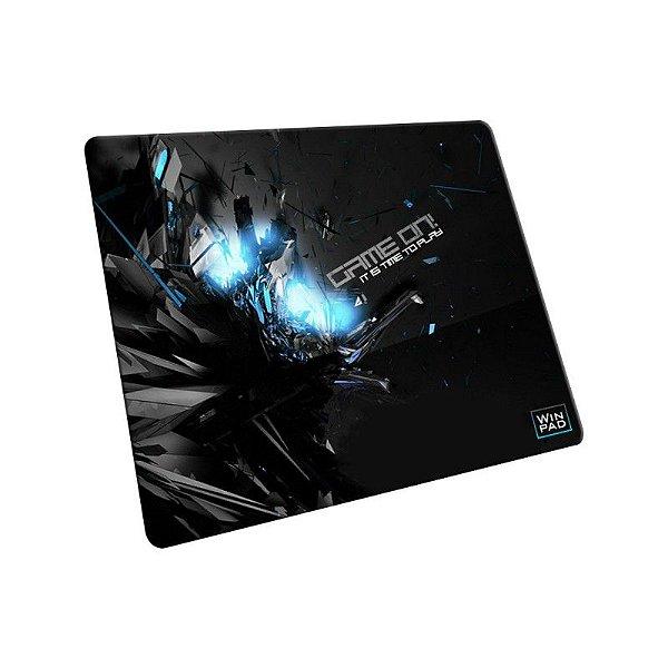 Mousepad Gamer WinPad GameON! Blue Pequeno Speed  (30cm x 21cm x 0,3cm)