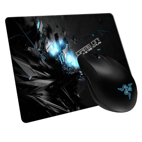 Mouse Razer Abyssus 1800 OEM + Mousepad Gamer GameON! Blue Médio (Control ou Speed)