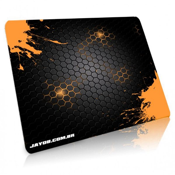 Mousepad Jayob Splash Orange Grande Speed - (45cm x 40cm x 0,3cm)