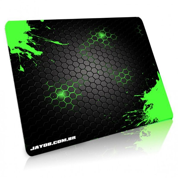 Mousepad Jayob Splash Green Grande Speed - (45cm x 40cm x 0,3cm)