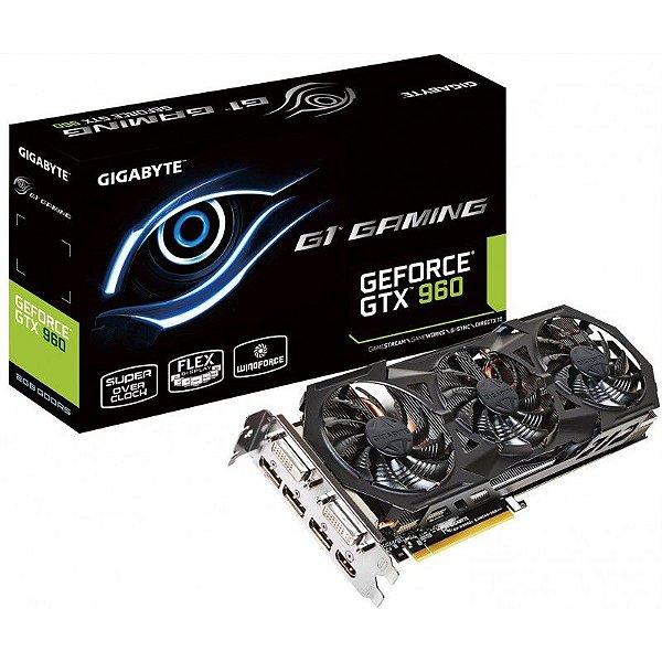 Placa de Vídeo Nvidia Gigabyte GTX960 G1 Gaming Special Edition 2GB DDR5 128Bit PCI Express 3.0 - GV-N960G1 GAMING-2GD