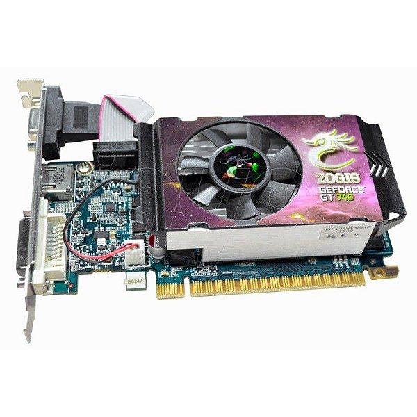 Placa de Vídeo Nvidia ZOGIS GeForce GT 740 2GB DDR3 128-Bit - 3.0 Bit Low Profile PCI-Express 3.0 VGA GT740 ZOGT740-2GD3