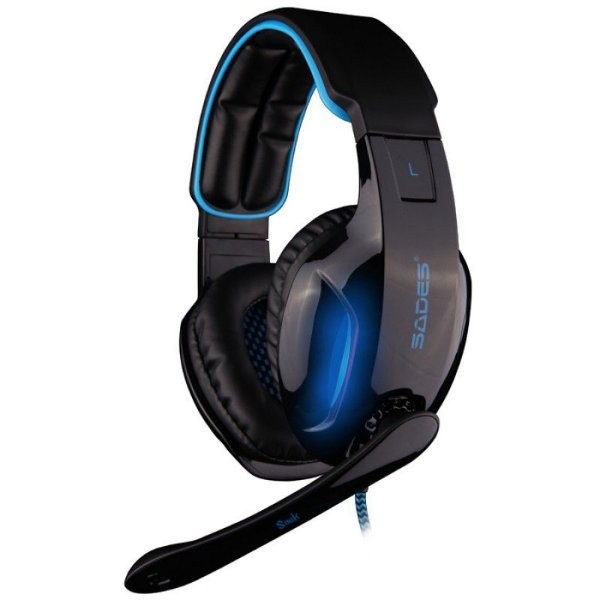 Headset Iluminado Sades Snuk Surround 7.1 Fone USB SA-902