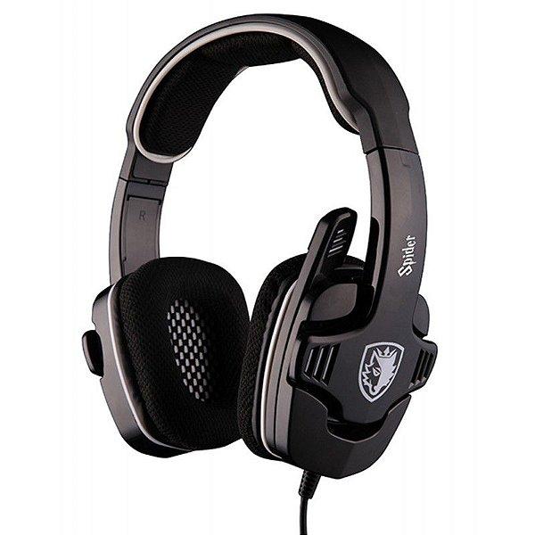 Headset Sades Spider SA-922 Fone Gaming Stereo Multi-Plataforma (PC, Playstation 4, PS4, PS3, XBOX 360)