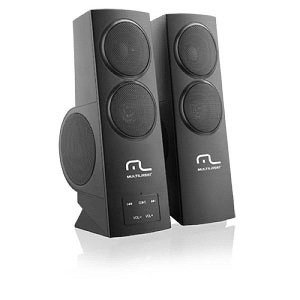 Caixa de Som Multilaser Warrior 3D USB Super Bass Gamer 20W RMS - SP-152