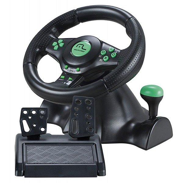 Volante Multilaser Racer 4 em 1 PS2, PS3, XBOX 360 e PC