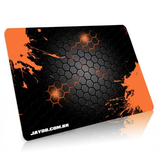 Mousepad Jayob Splash Orange Médio Speed - (36cm x 28cm x 0,3cm)