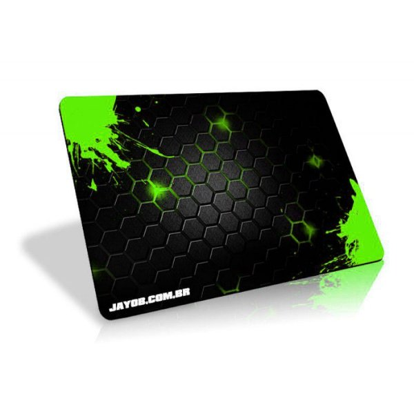 Mousepad Jayob Splash Green - Pequeno Speed (30cm x 21cm x 0,3cm)