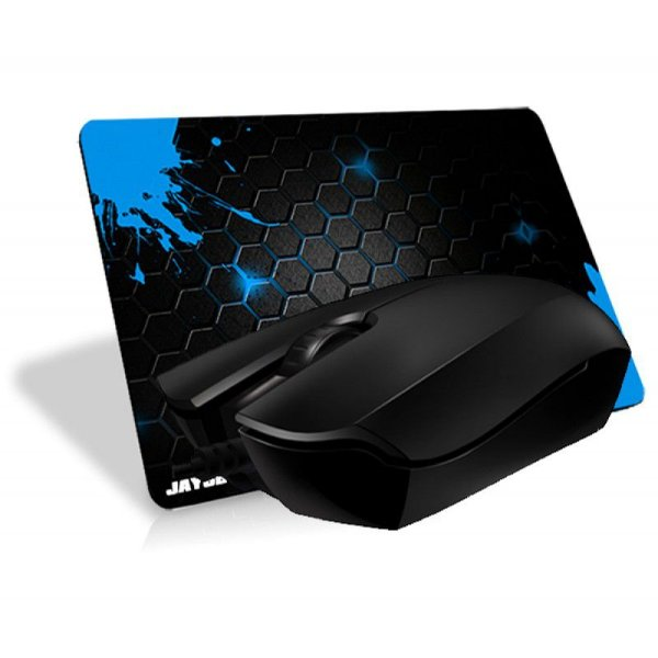 Combo Mouse Razer Abyssus 1800DPI OEM + Mousepad Jayob Splash Blue Mini (Speed ou Control)