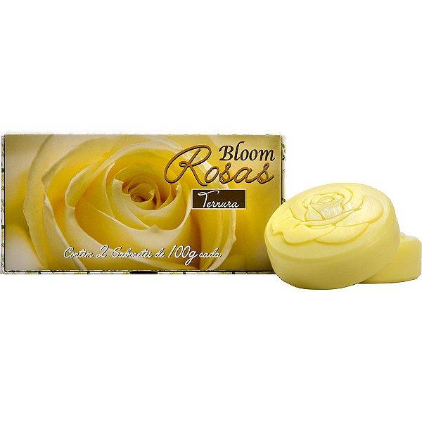 Estojo com 2 Sabonetes - Bloom Rosas 100g cada - Ternura