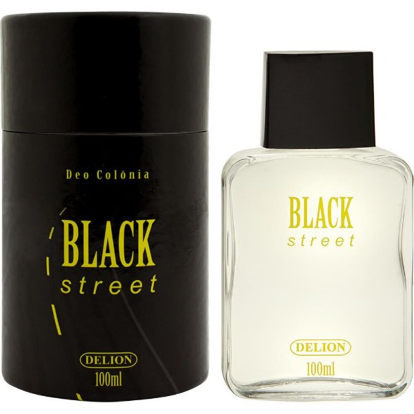 Lata com deo colônia - Delion 100ml - Black Street