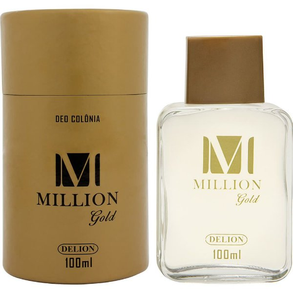 Lata com deo colônia - Delion 100ml - Million Gold