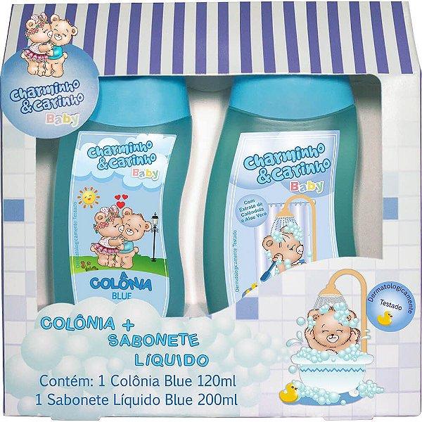 Estojo Colônia 120ml e Sabonete Líquido 200ml Blue - Charminho & Carinho Baby
