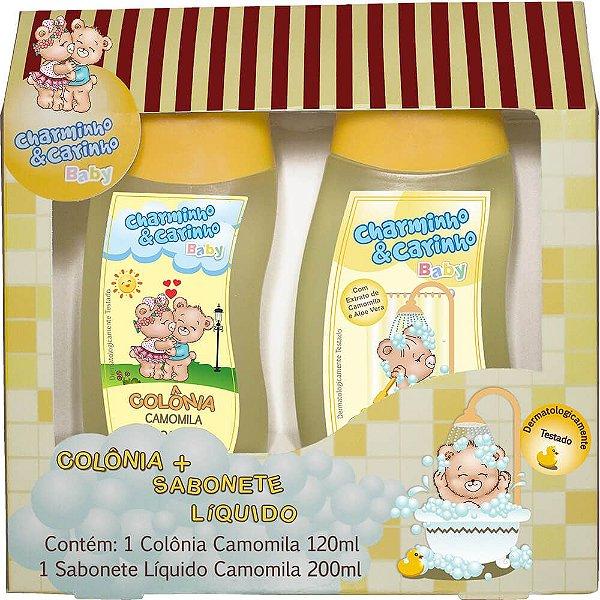 Estojo Colônia 120ml e Sabonete Líquido 200ml Camomila - Charminho & Carinho Baby