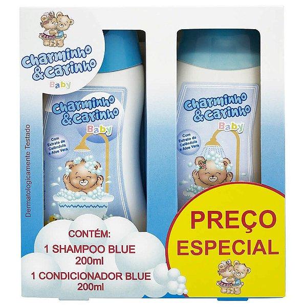Estojo Shampoo e Condicionador 200ml Blue - Charminho & Carinho Baby