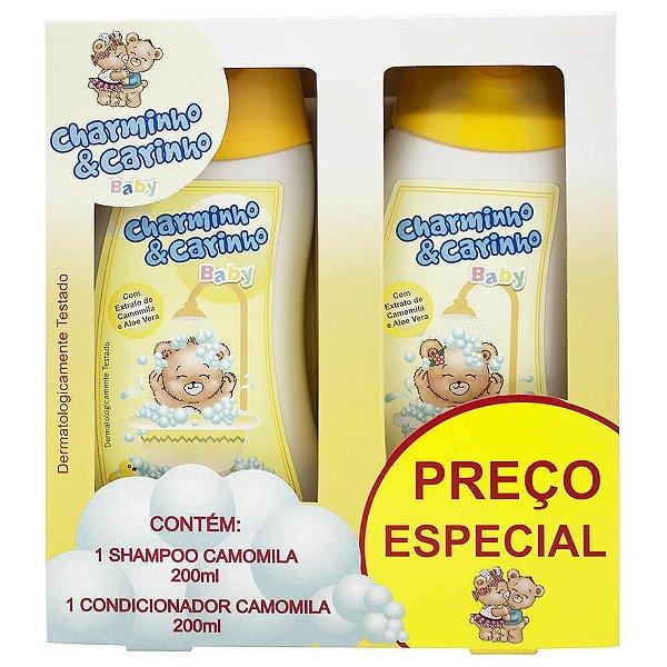 Estojo Shampoo e Condicionador 200ml Camomila - Charminho & Carinho Baby