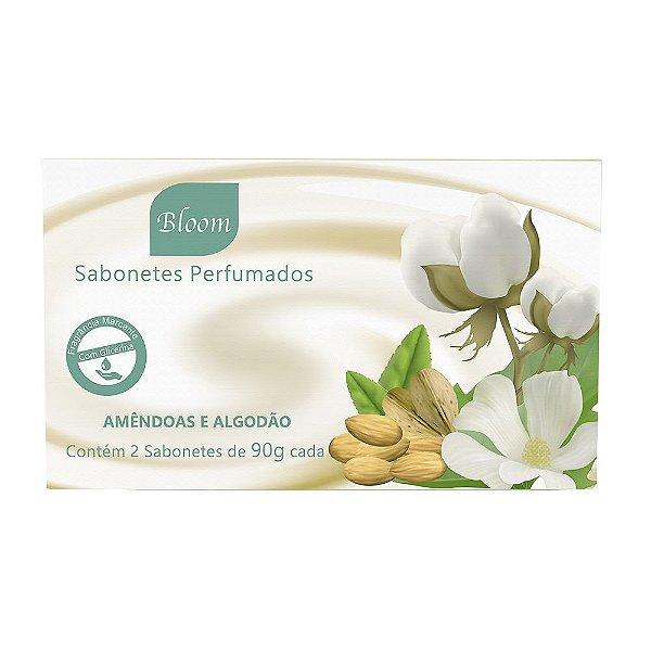 Sabonetes Amêndoas e Algodão 90g cada - Estojo com 2 unidades - Bloom