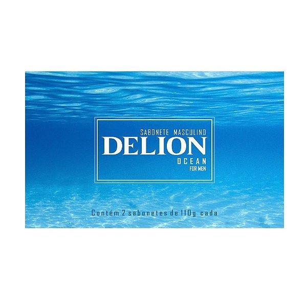 Sabonetes Masculinos Delion Ocean - Estojo com 2 unidades 110g cada