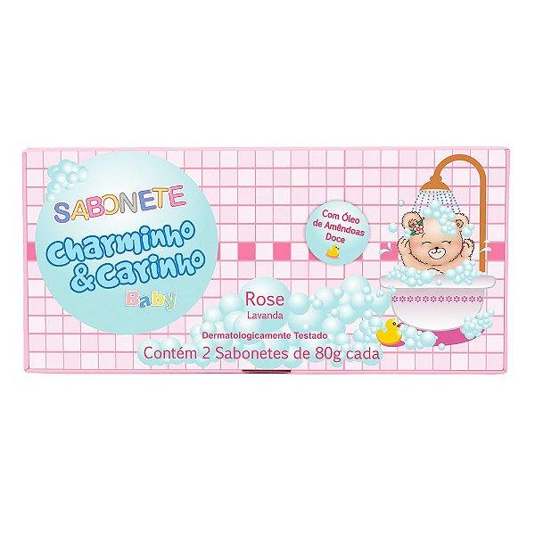 Sabonete Rose Lavanda e Almíscar Charminho & Carinho Baby - Estojo com 2 unidades