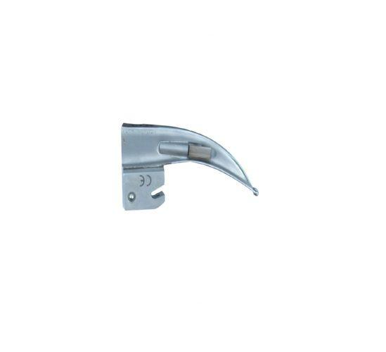 Lâmina de Aço Inox Convencional P/ Laringoscópio Curva 0 - Protec
